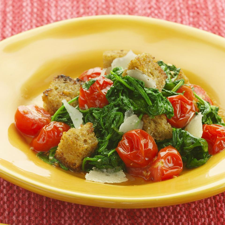 This assertive panzanella has the most flavor when made with mature arugula, but baby arugula also works well. Serve with grilled steak or turkey sausage.