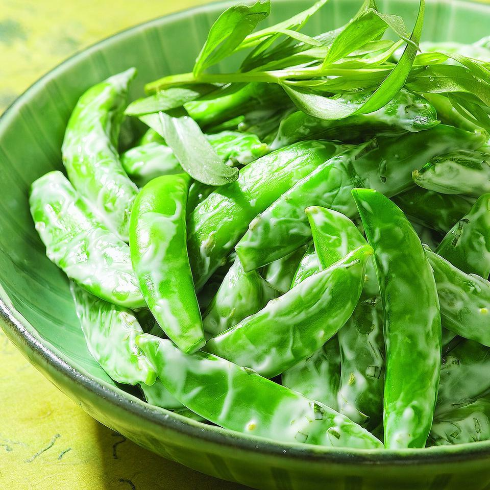 Chilled Snap Peas with Creamy Tarragon Dressing EatingWell Test Kitchen