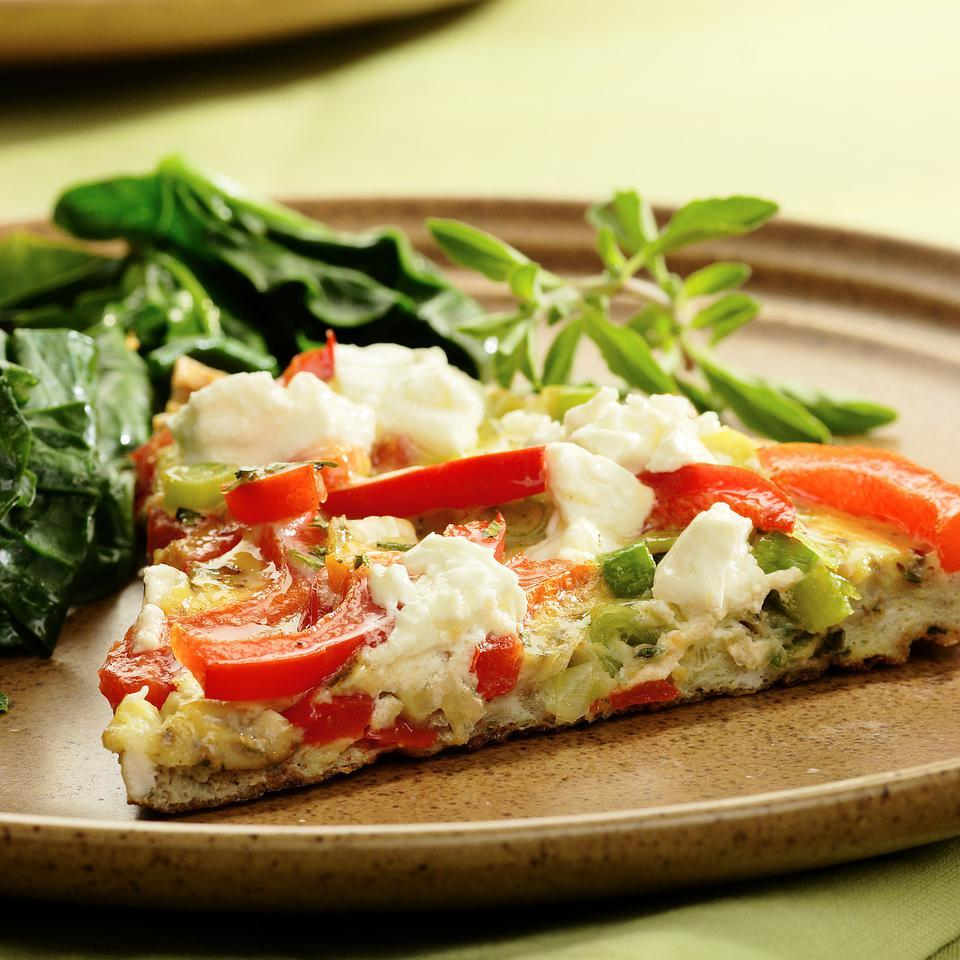 Red Pepper & Goat Cheese Frittata EatingWell Test Kitchen