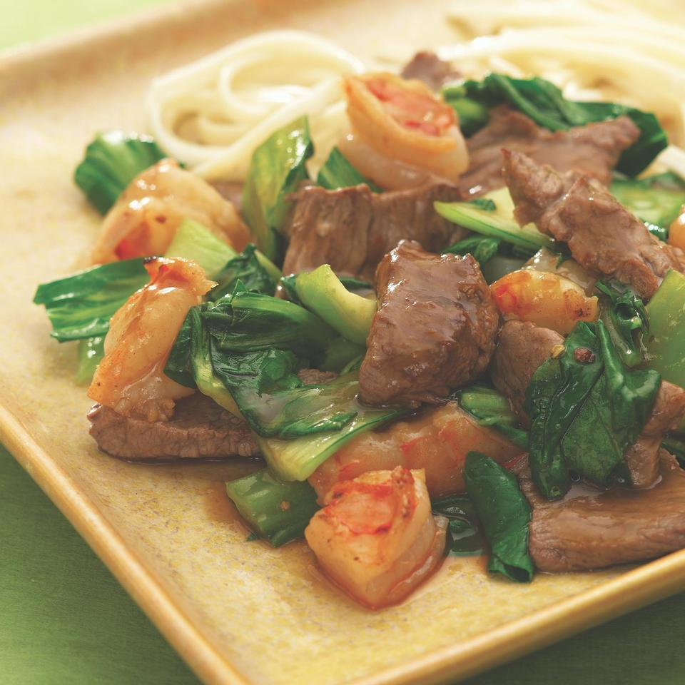 Spicy Beef with Shrimp & Bok Choy EatingWell Test Kitchen