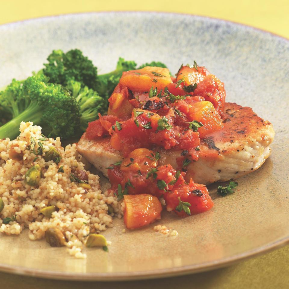 Pork Chops with Apricot-Tomato Chutney EatingWell Test Kitchen