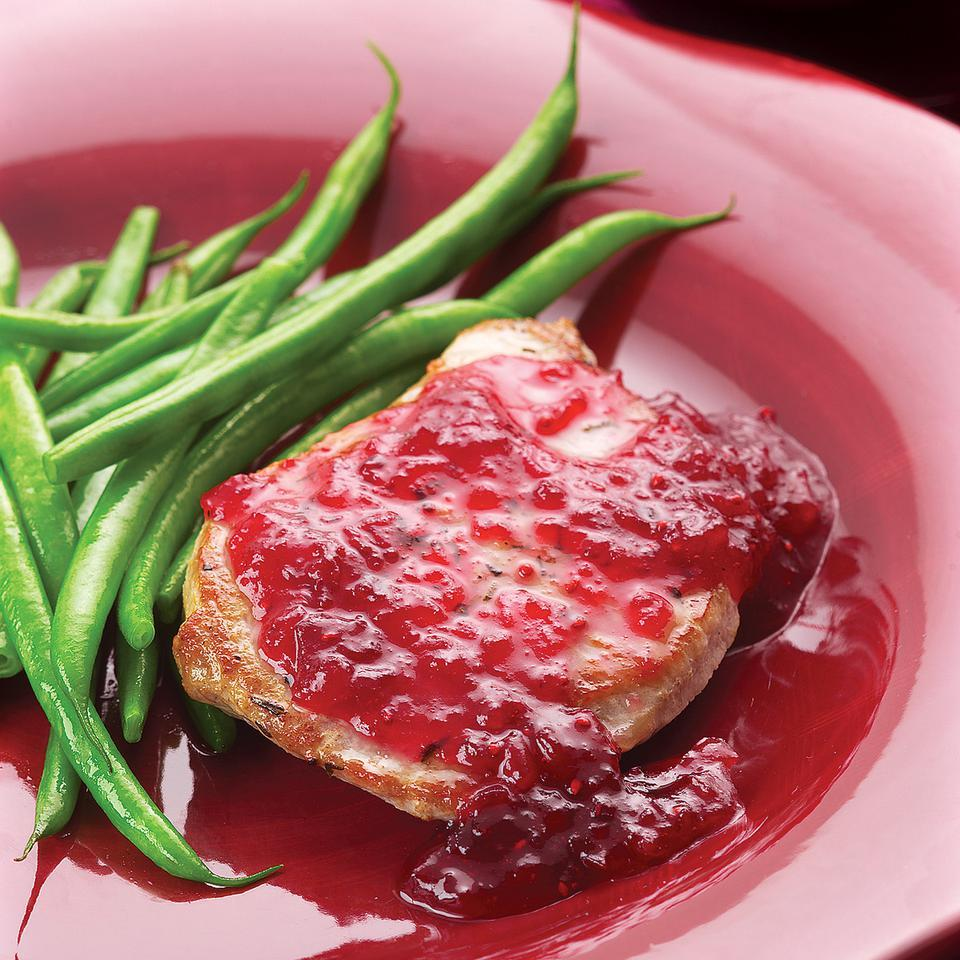 Easy Pork Chop Saute with Cranberries EatingWell Test Kitchen
