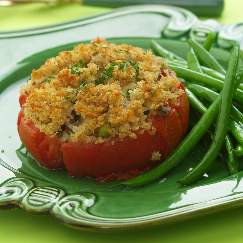 Stuffed Tomatoes with Golden Crumb Topping Marie Simmons