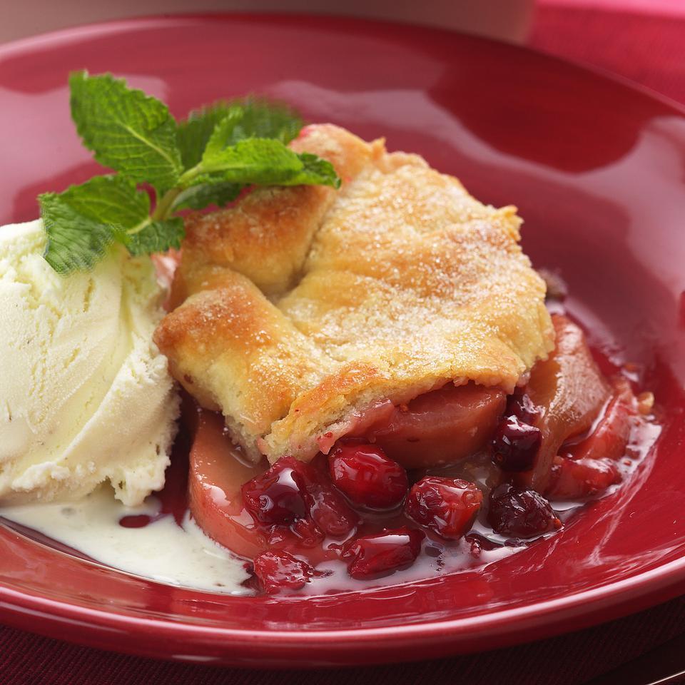 Gingered Cranberry-Pear Cobbler EatingWell Test Kitchen