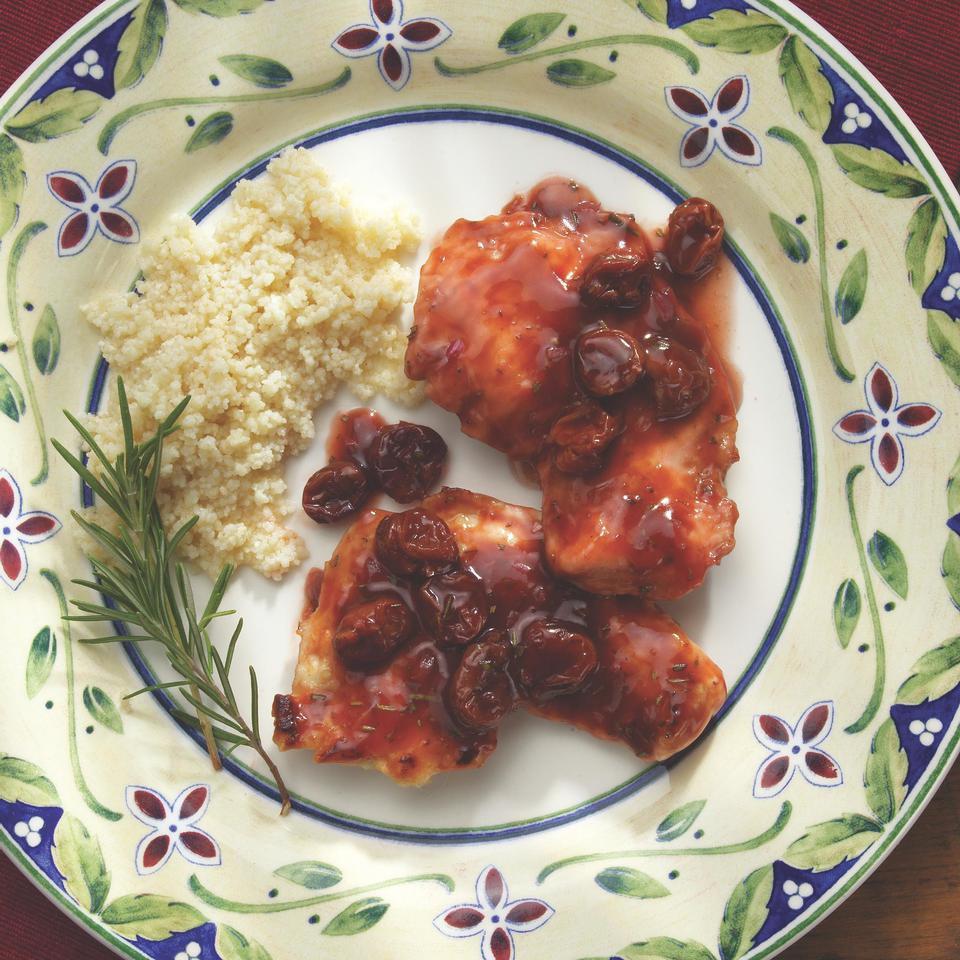 Turkey Cutlets with Dried Cherries, Rosemary & Port Victoria Abbott Riccardi
