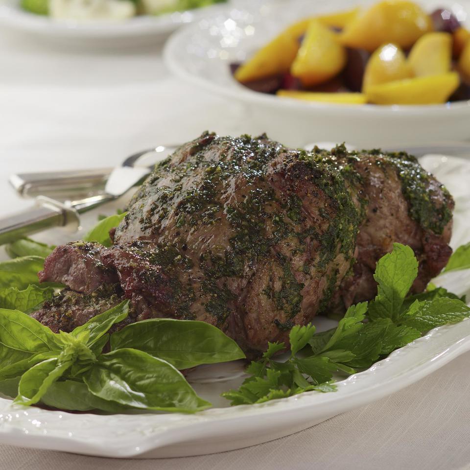 Mint-Pesto Rubbed Leg of Lamb EatingWell Test Kitchen