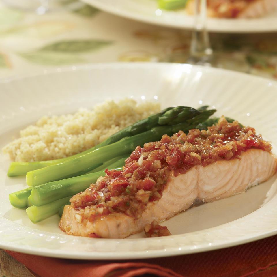 Roast Salmon with Salsa