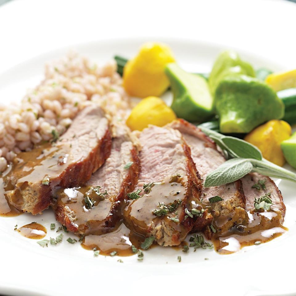 Mustard-Maple Pork Tenderloin EatingWell Test Kitchen