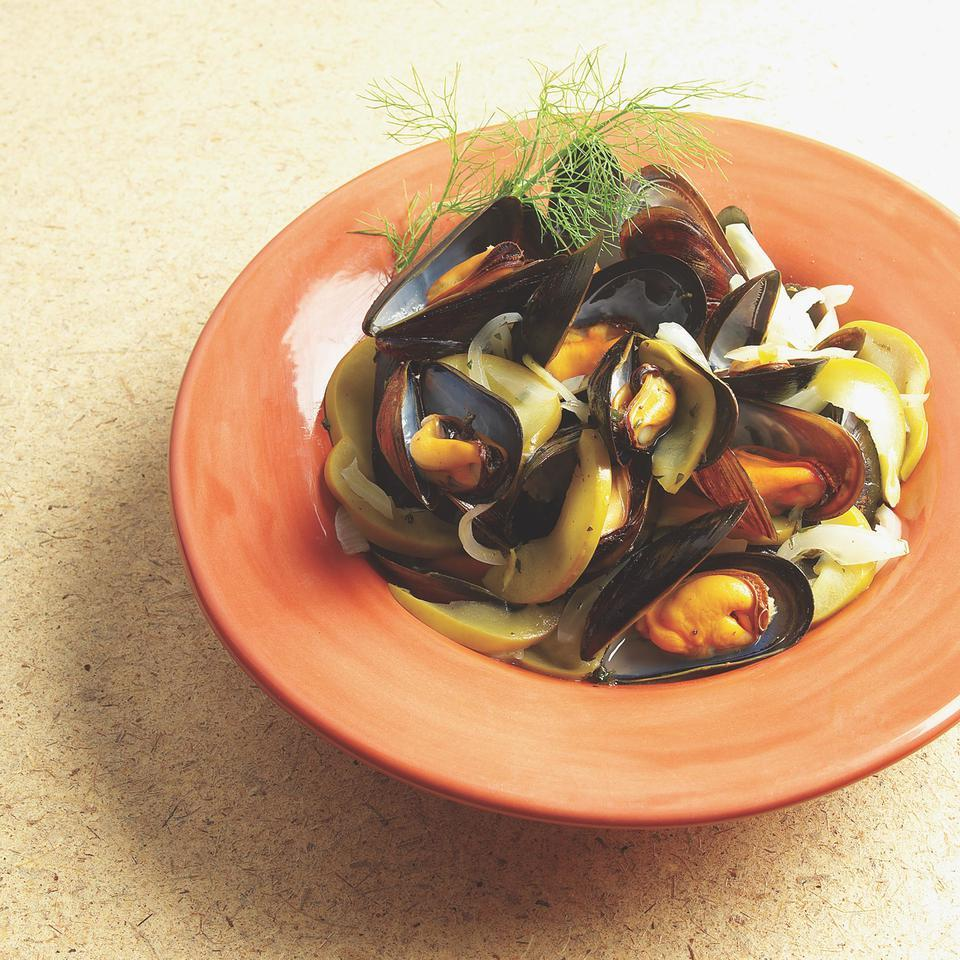 Mussels Stewed with Apple & Fennel EatingWell Test Kitchen