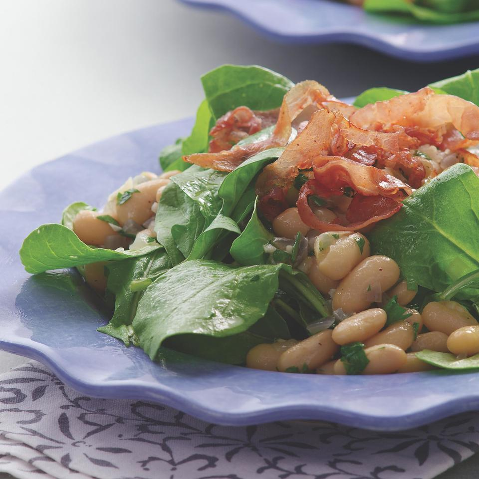 Warm Bean & Arugula Salad EatingWell Test Kitchen