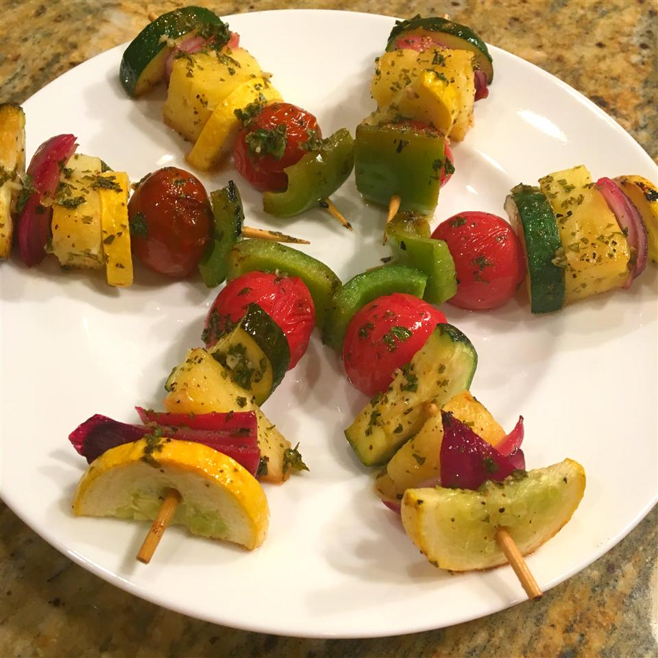 Grilled Fruit and Vegetable Kabobs Staci