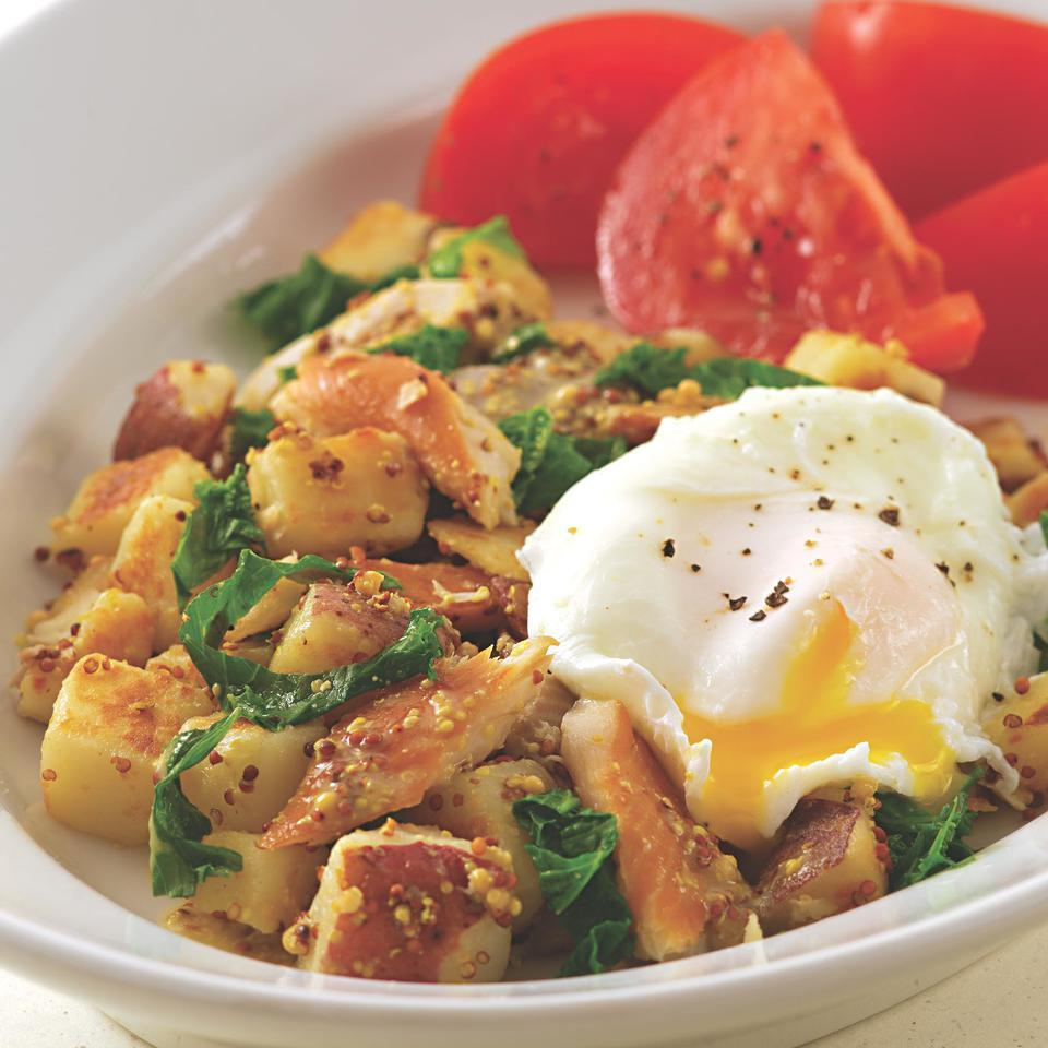 Smoked Trout Hash with Mustard Greens EatingWell Test Kitchen