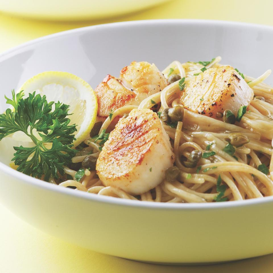 Scallop Piccata on Angel Hair EatingWell Test Kitchen
