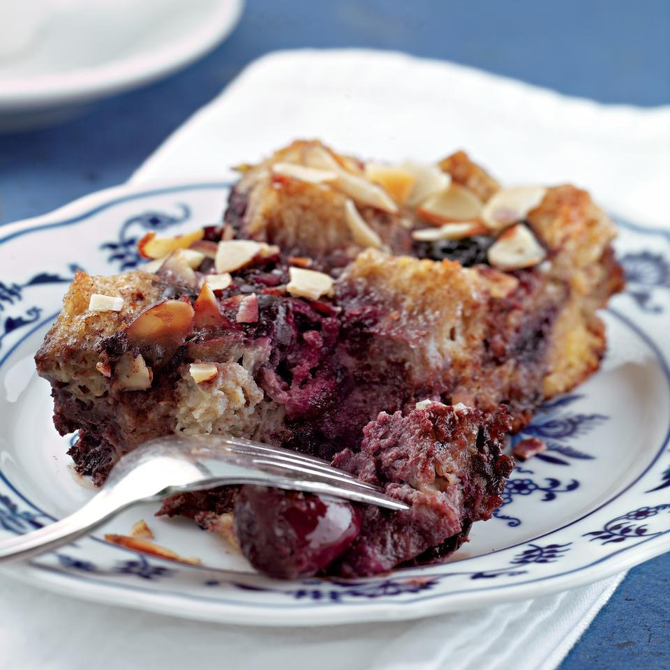 Chocolate, Cherry & Almond Bread Pudding EatingWell Test Kitchen