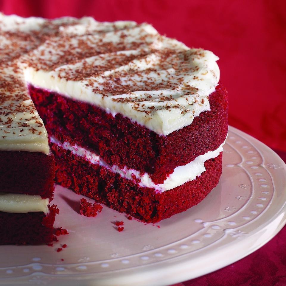 Red Velvet Cake with Cream Cheese Frosting EatingWell Test Kitchen