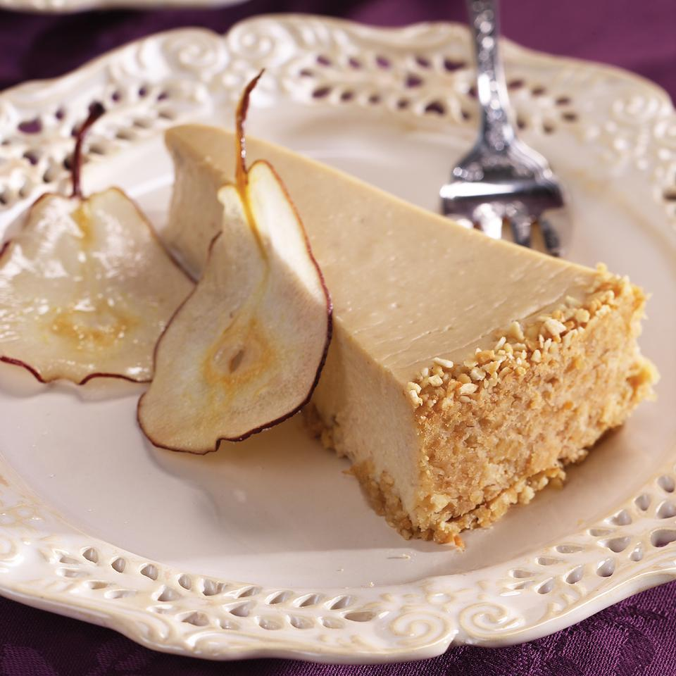 Pear & Ginger Cheesecake EatingWell Test Kitchen