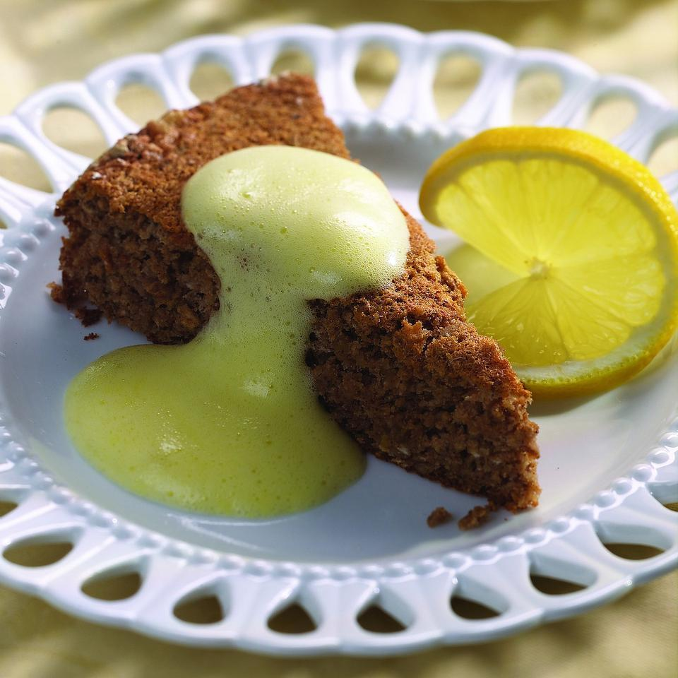 Haroset Cake with Zabaglione Sauce EatingWell Test Kitchen