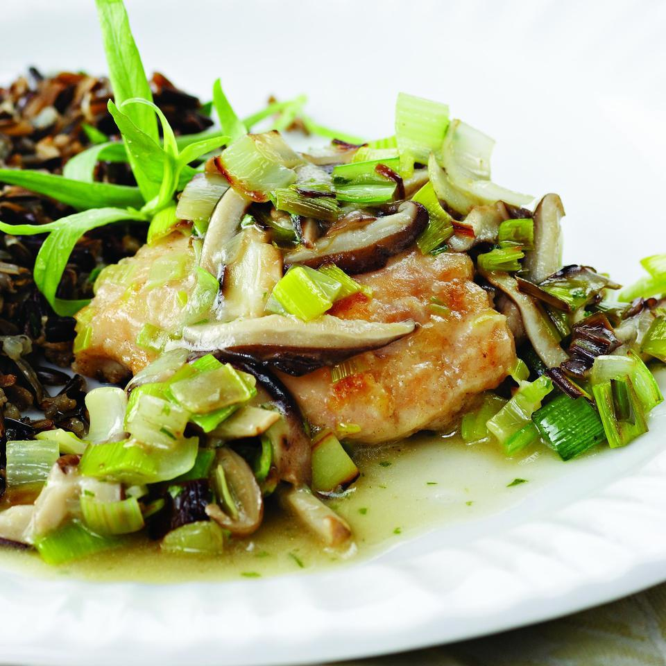 Chicken Thighs with Leeks & Shiitakes EatingWell Test Kitchen