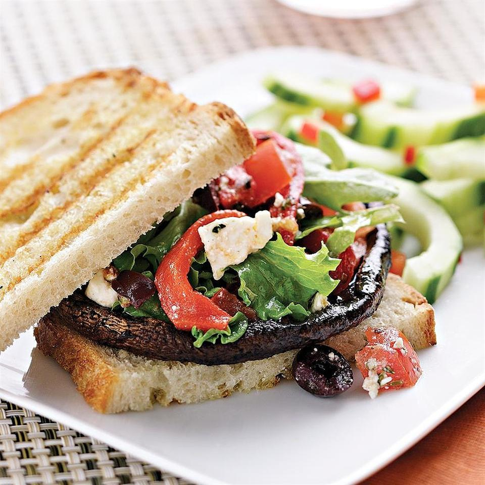 Mediterranean Portobello Burger EatingWell Test Kitchen