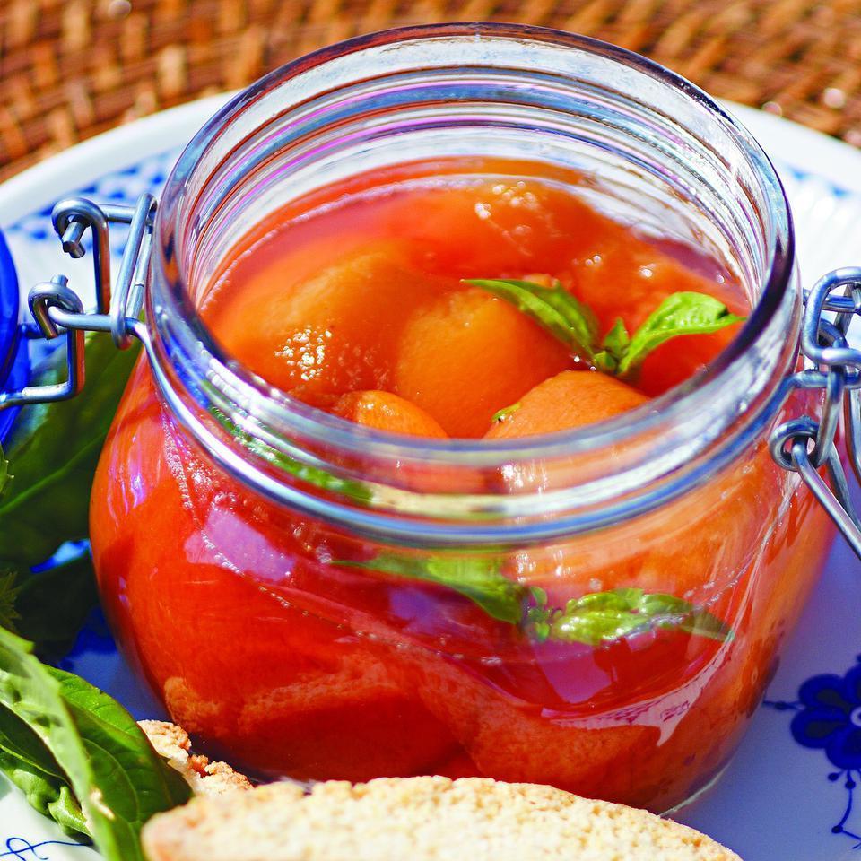 Basil-Cinnamon Peaches Susan Herr