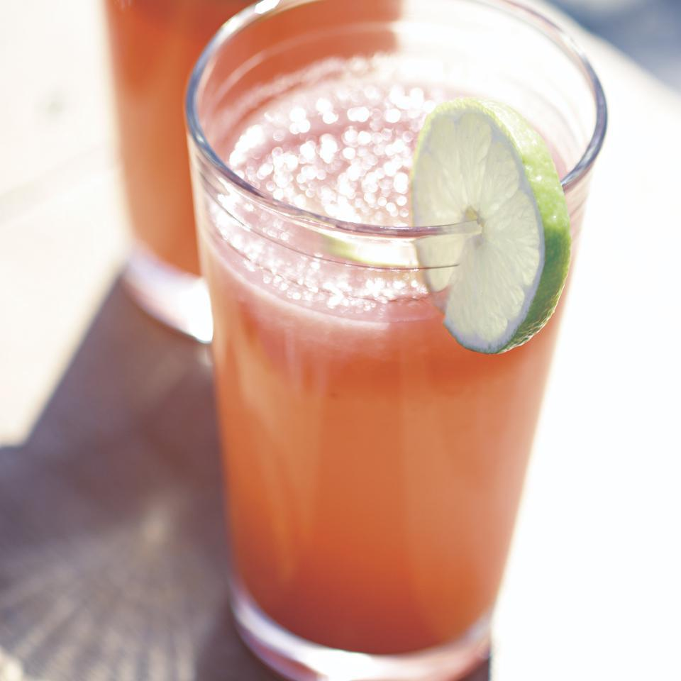 This refreshing drink is served by roadside vendors all over Mexico. Not too much fruit, not too much sugar, just a beautiful way to quench your thirst on a summer day.Source: EatingWell Magazine, June/July 2006