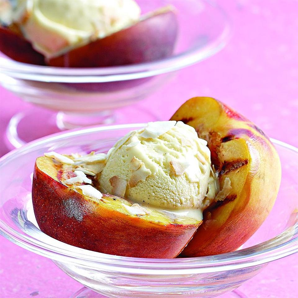 Grilled Peach Sundaes EatingWell Test Kitchen