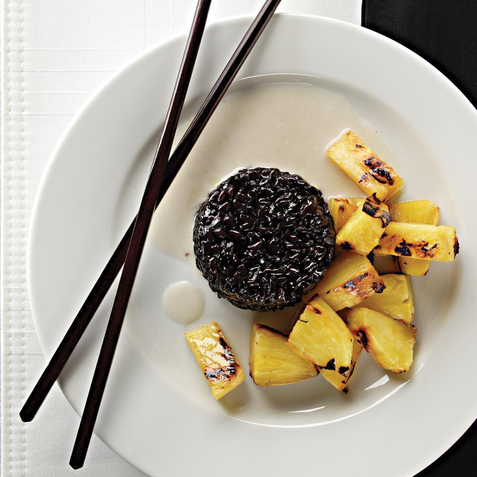 Grilled Pineapple with Coconut Black Sticky Rice Corinne Trang