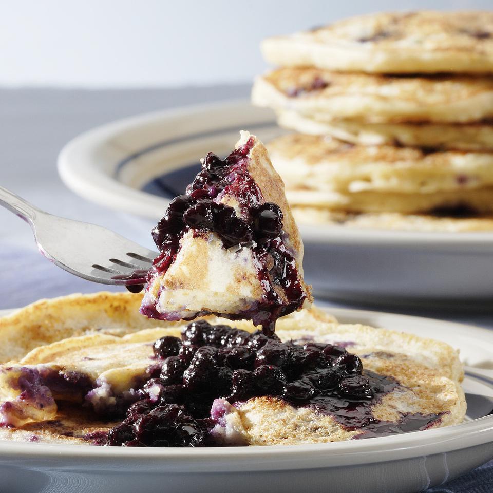 Blueberry-Ricotta Pancakes Carolyn Malcoun