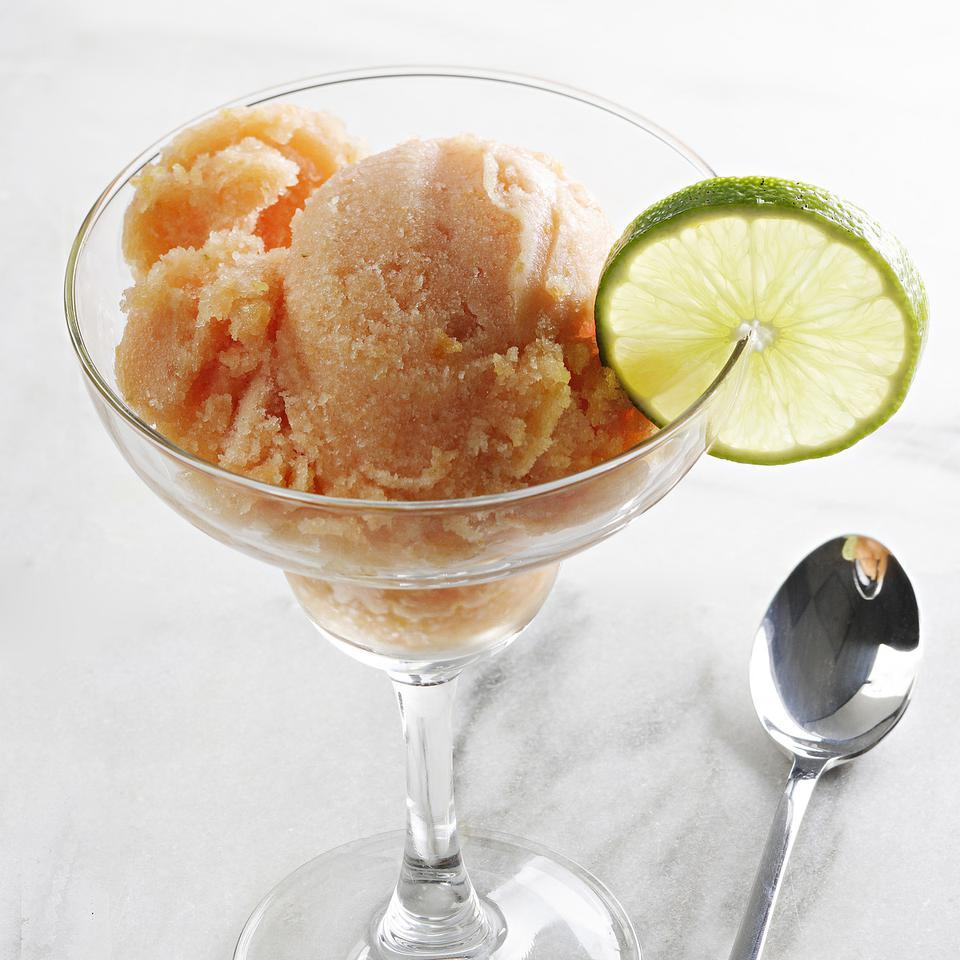 Peach-Lime Sorbet EatingWell Test Kitchen