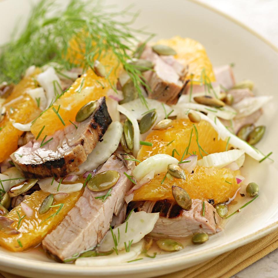 Grilled Pork Tenderloin Salad EatingWell Test Kitchen