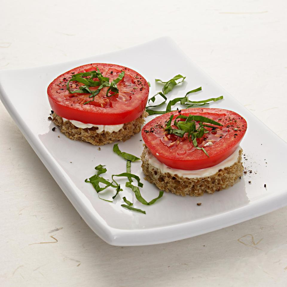 Tomato & Basil Finger Sandwiches EatingWell Test Kitchen