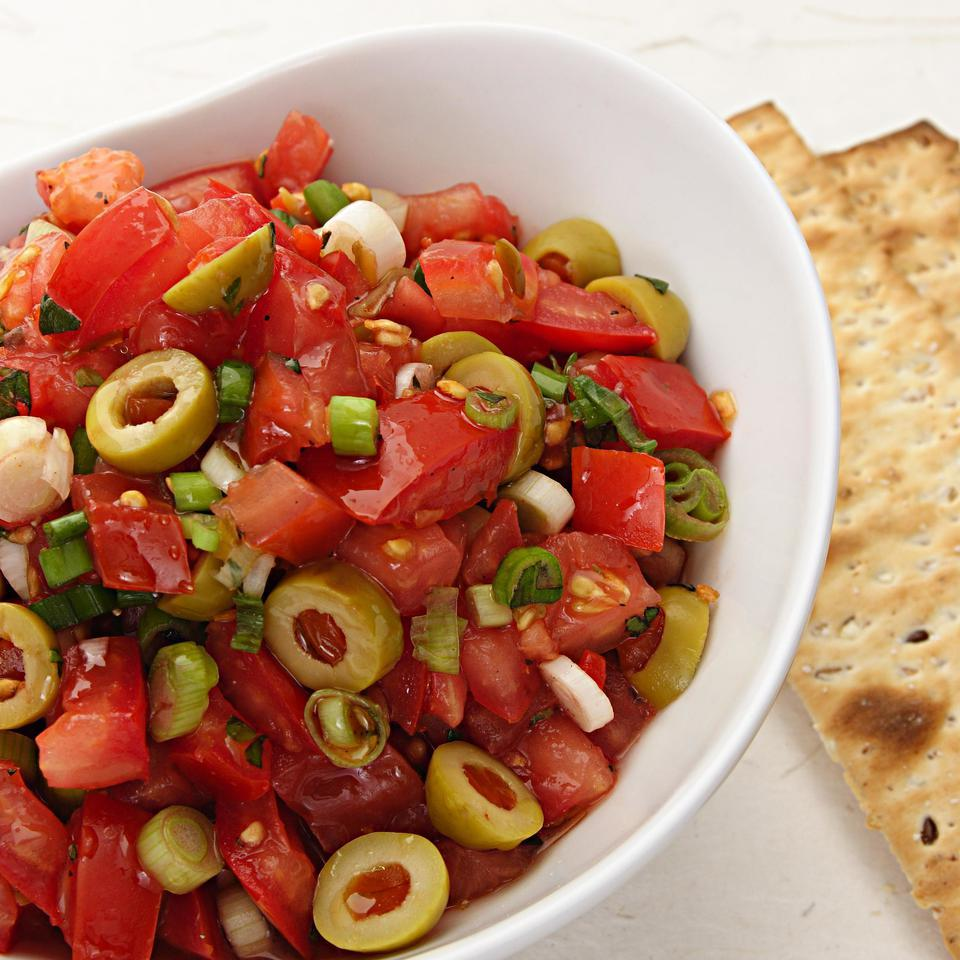 Tomato & Green Olive Salsa EatingWell Test Kitchen