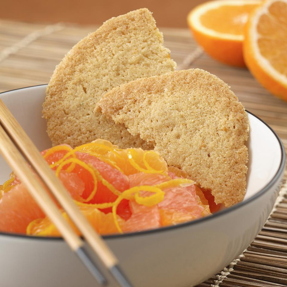 Orange Crisps with Citrus Fruit Salad EatingWell Test Kitchen