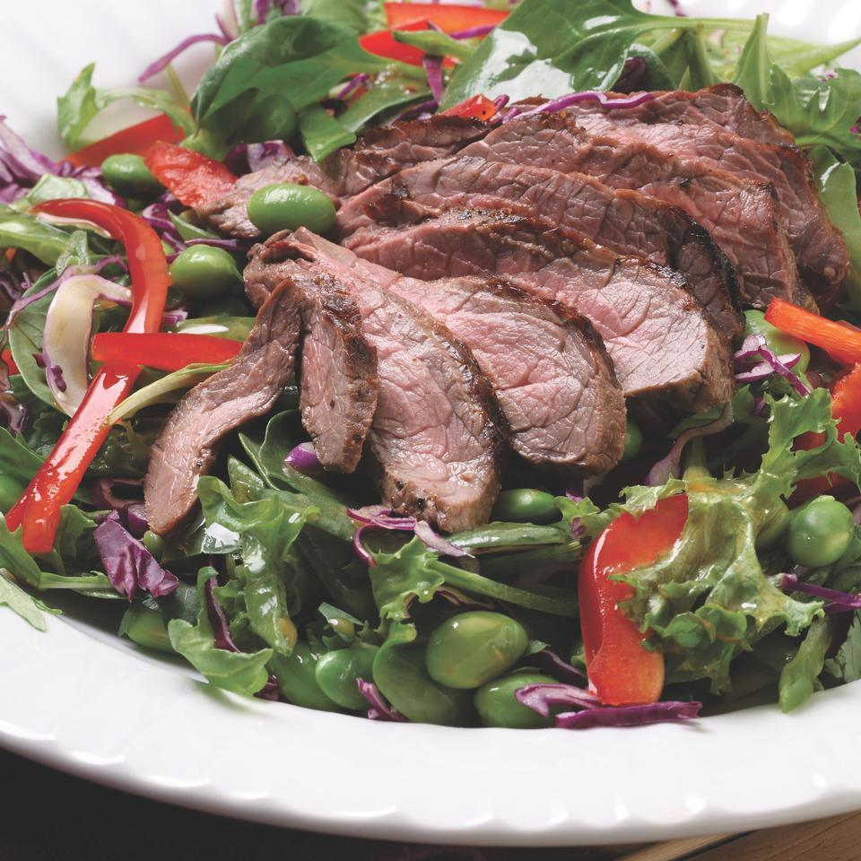 Seared Steak Salad with Edamame & Cilantro EatingWell Test Kitchen