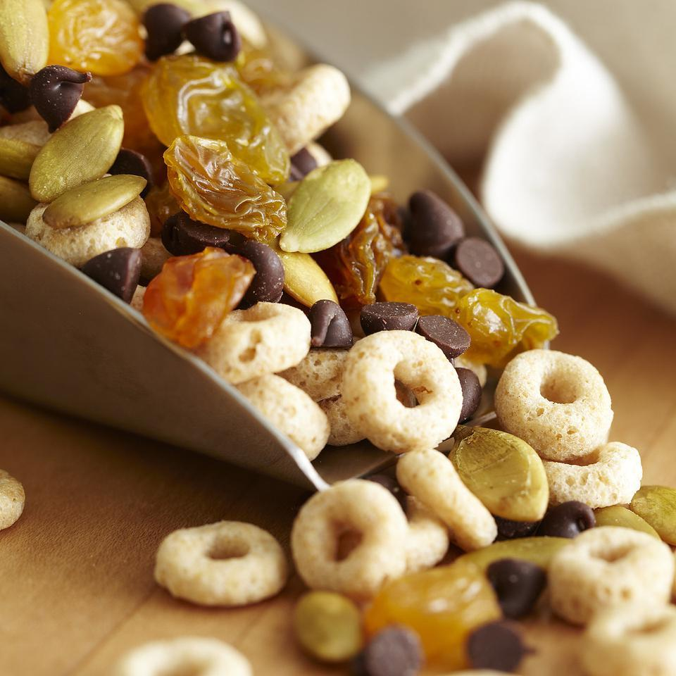 Crunchy Cereal Trail Mix EatingWell Test Kitchen