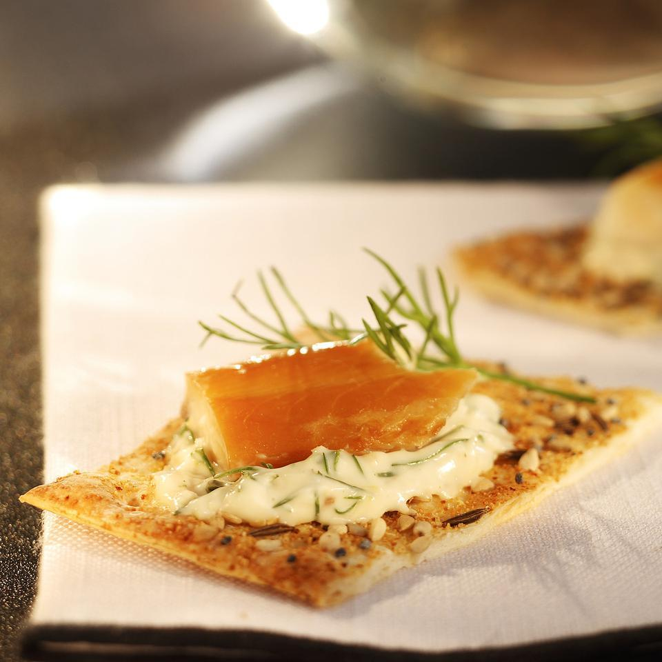 Smoked Trout Crackers with Lemon-Dill Mayonnaise EatingWell Test Kitchen