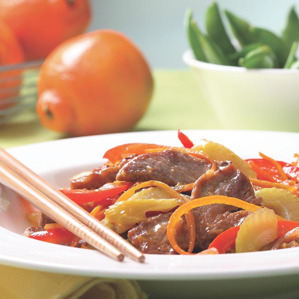 Tangelo Pork Stir-Fry EatingWell Test Kitchen