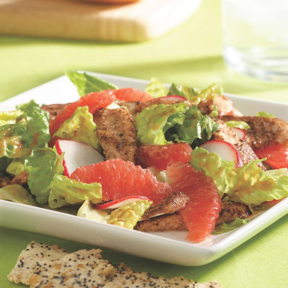 Grapefruit Chicken Satay Salad EatingWell Test Kitchen