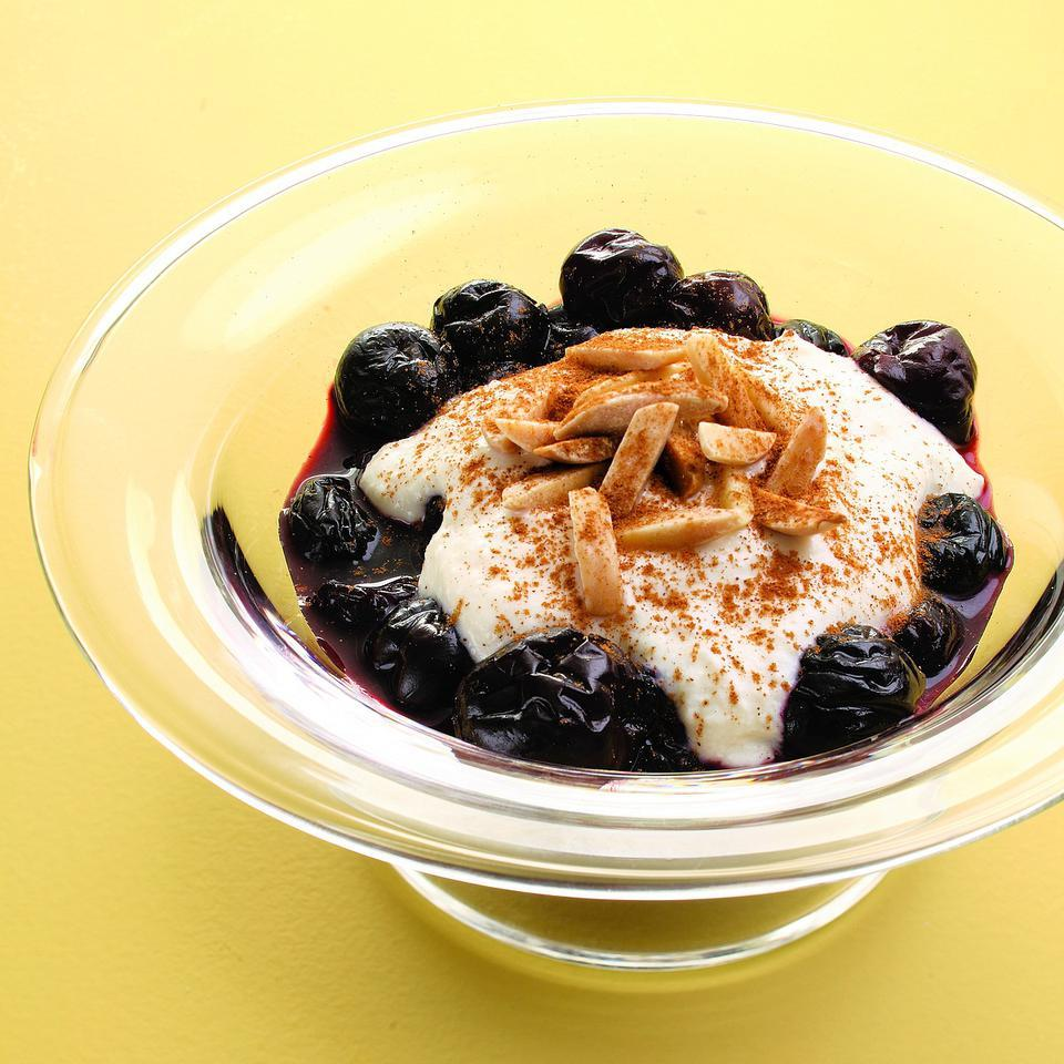 Cherries with Ricotta & Toasted Almonds EatingWell Test Kitchen