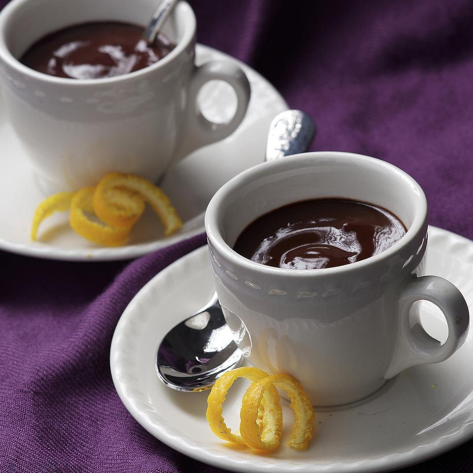 Rich, creamy and thick enough that you may want to scoop it with a spoon, this European-style drinking chocolate is something different from the usual hot cocoa. Serve it in a demitasse or espresso cup for an elegant treat.