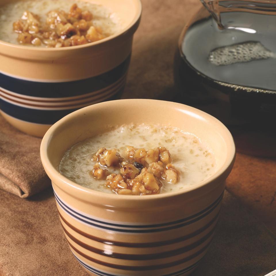 Maple-Walnut Tapioca Pudding EatingWell Test Kitchen
