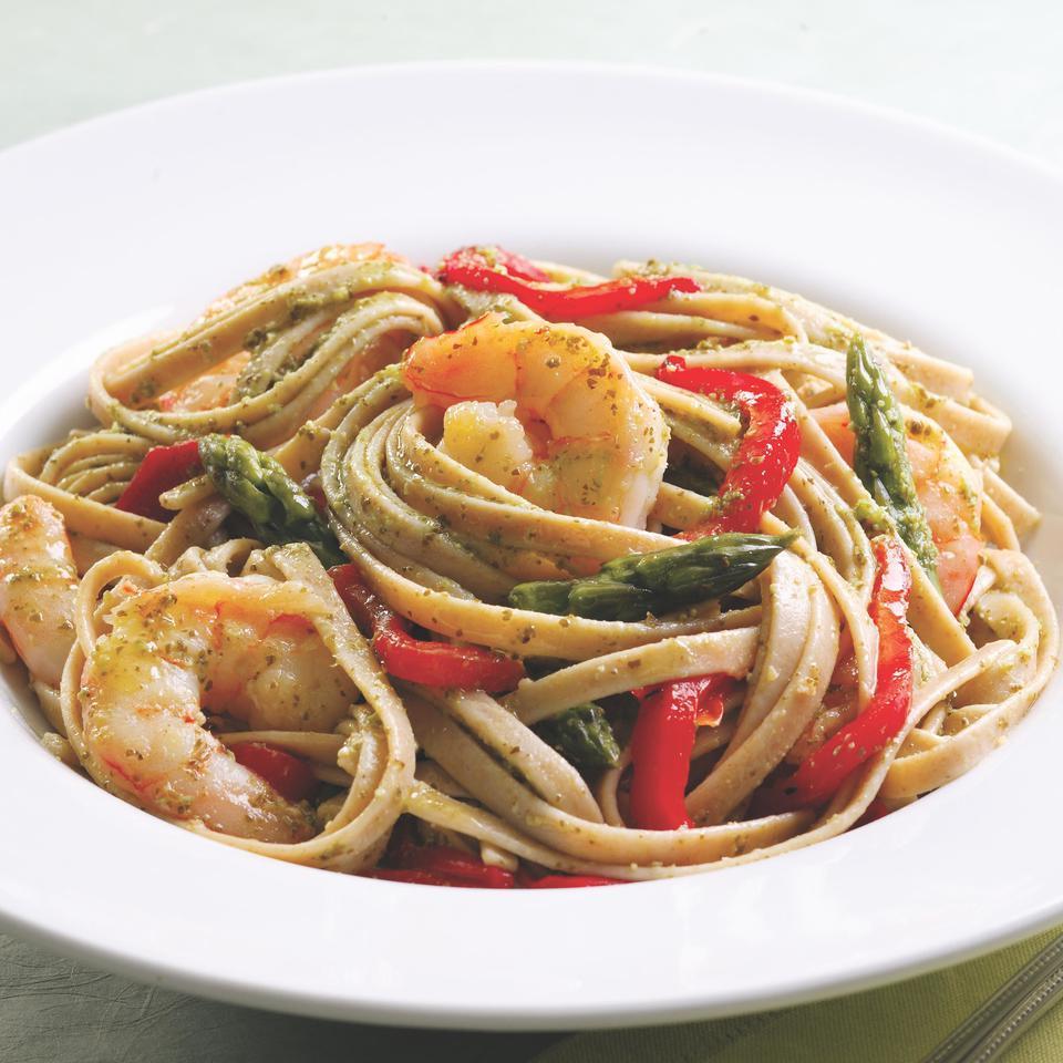 Shrimp & Pesto Pasta EatingWell Test Kitchen