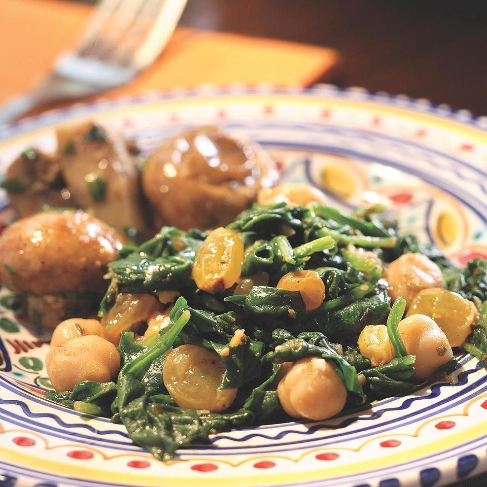 Spinach with Chickpeas Victoria Abbott Riccardi