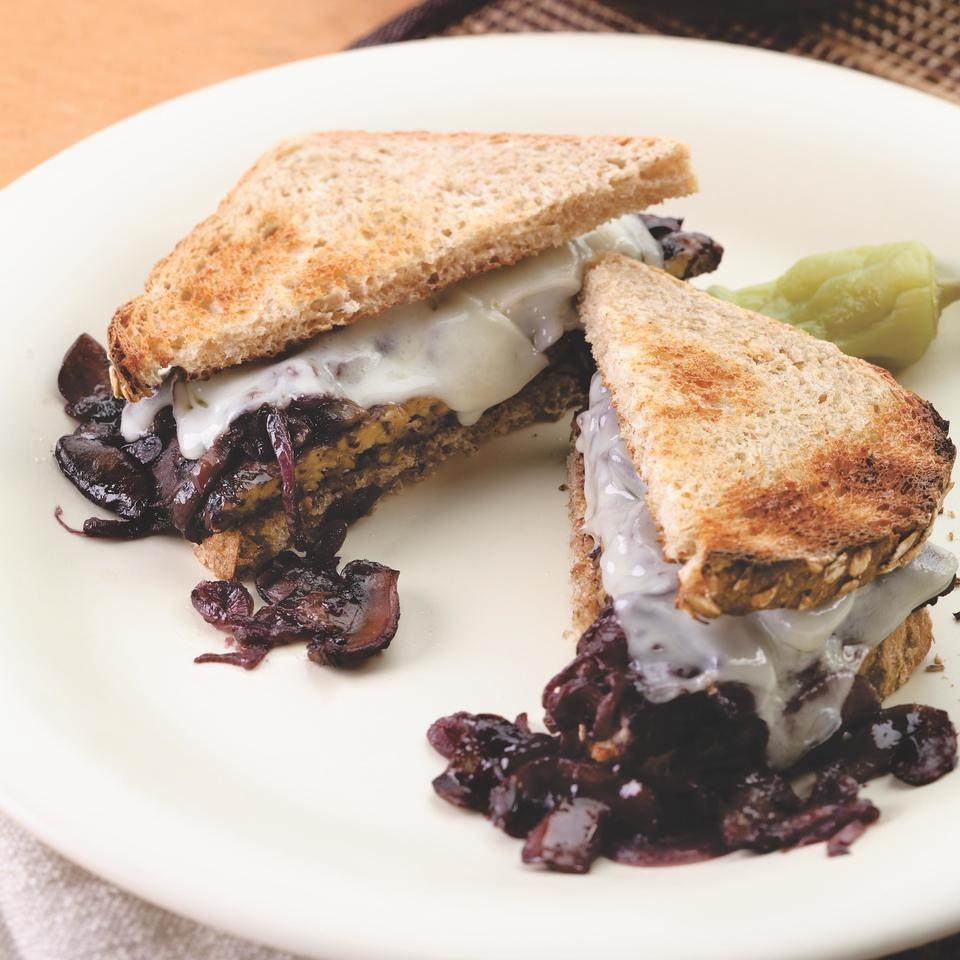 Smothered Tempeh Sandwich EatingWell Test Kitchen