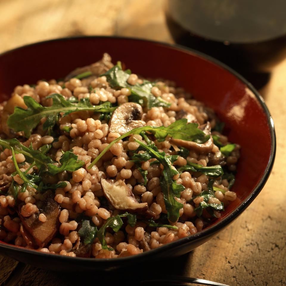 Wild Mushroom & Barley Risotto EatingWell Test Kitchen