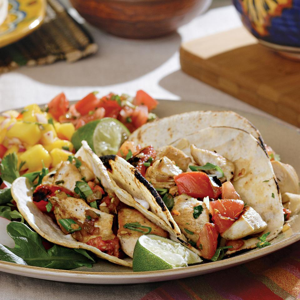 Chicken Tacos with Charred Tomatoes EatingWell Test Kitchen