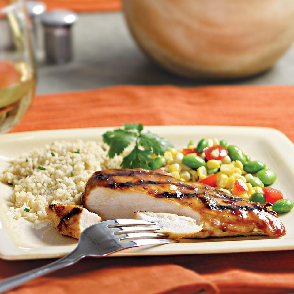 Grilled Chicken with Chipotle-Orange Glaze EatingWell Test Kitchen