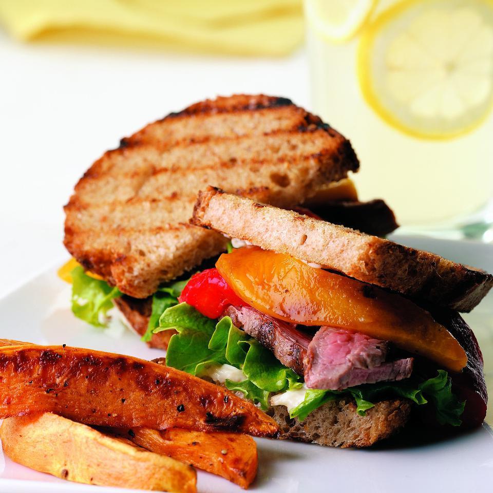 Bistro Flank Steak Sandwich EatingWell Test Kitchen