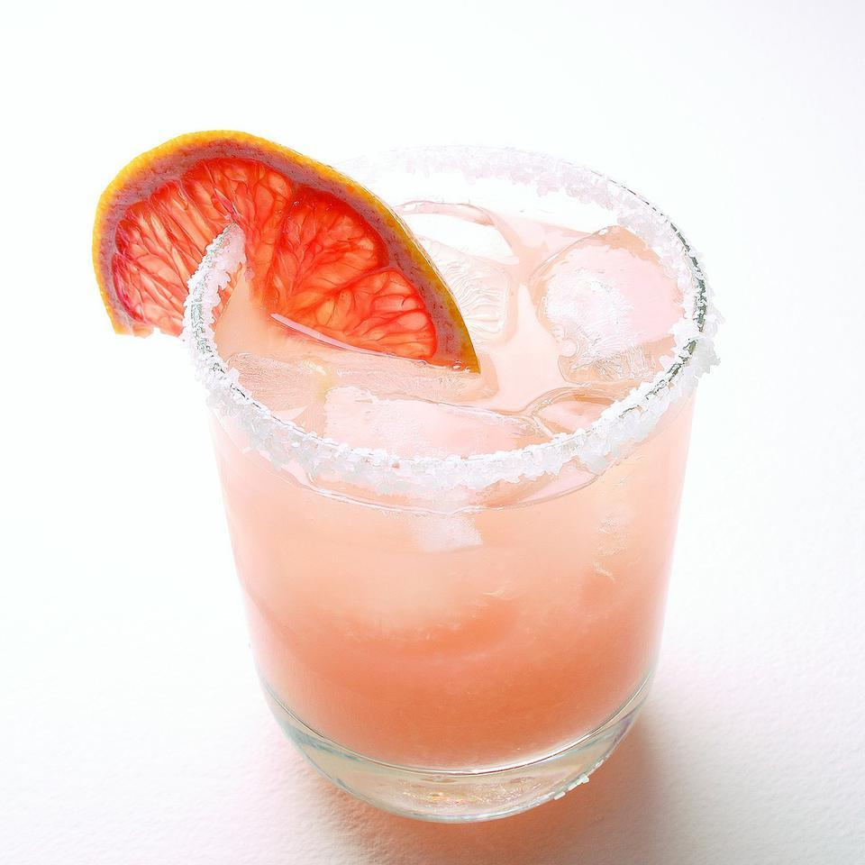 This is a Mexican-inspired take on the Salty Dog (usually made with grapefruit juice, vodka and salt). Source: EatingWell Magazine, July/August 2007