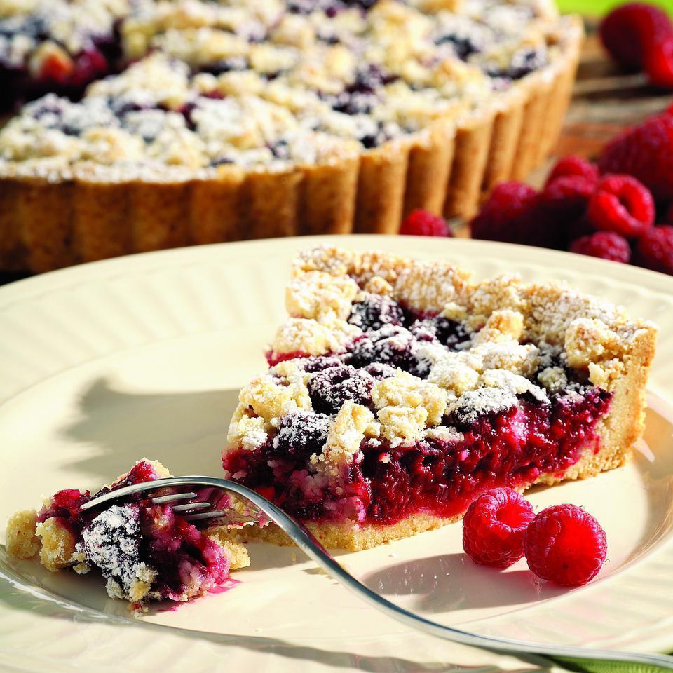Raspberry-Almond Crumb Tart Marie Simmons